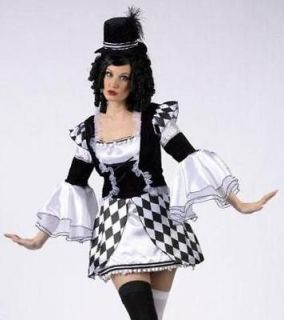harlequin clown doll adult mime halloween costume s m one