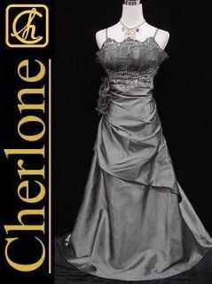 Newly listed Cherlone Satin Grey Lace Long Ball Gown Wedding/Evenin