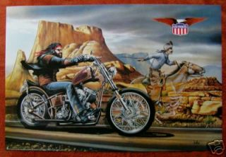 David Mann *Full Sized* GHOSTRIDER Poster 1980s NOS   Biker on