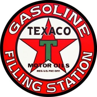 vintage texaco gas oil filling station decal the best time