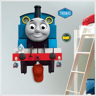 THOMAS THE TANK ENGINE wall stickers with hooks MURAL train 22 by 30