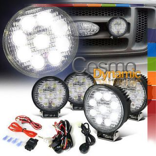 4X 4.5 ROUND 9PC BRIGHT WHITE LED 4X4 SUV WORK LIGHTS FOG BUMPER