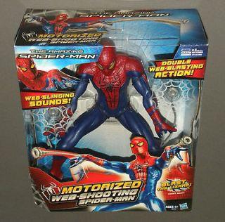 Motorized Web Shooting Amazing Spider Man Action Figure w Web Slinging