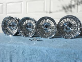 NEW 72 spoke cross lace reverse 14/7 wire wheel dayton style 100