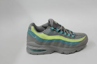 Nike Air Max 95 Medium Grey Citron Yellow Mineral Blue Womens Size 6