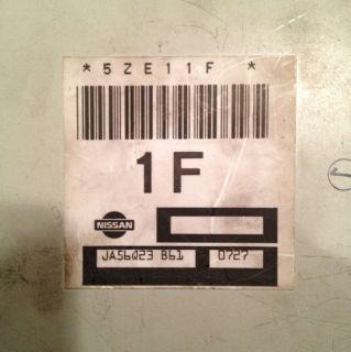 00 01 02 NISSAN SENTRA 5ZE11F 1.8L 1F ECU ECM ENGINE COMPUTER JA56Q23
