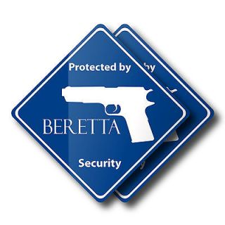 Set of 2 Security Decals for Beretta 92 92fs px4 390 grips magazine