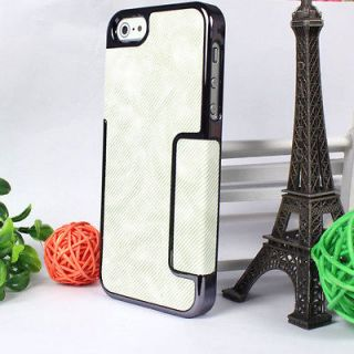 Newly listed New Chrome Leather Stripe Hard Back Case Cover for Apple