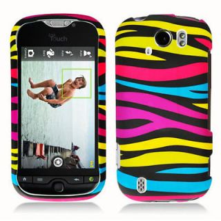 Newly listed Rainbow Zebra Hard Snap On Cover Case for HTC Mytouch 4G