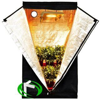 36x20x63 Mylar Hydroponics Grow Tent Clone Room Hut Hydro Cabinet