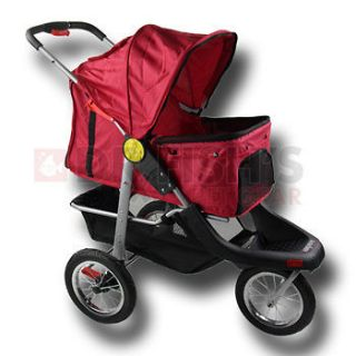 Newly listed Red Pet Jogger Jogging Dog Cat Stroller Carrier All