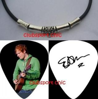 ED SHEERAN SIGNED GUITAR PICK NECKLACE THE A TEAM , LEGO HOUSE