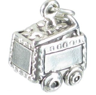 Ore Cart Sterling Silver Charm .925 x 1 Mining Miner Carts Charms