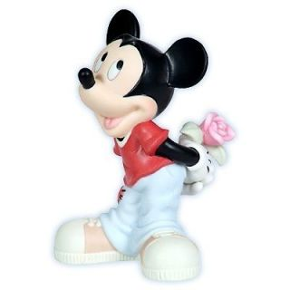 Precious Moments Disney Mickey Mouse Rose Love Porcelain Figurine