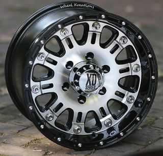 16 inch Black Wheels/Rims KMC XD795 Chevy Gmc 1500 Trucks 6 lug 6x5