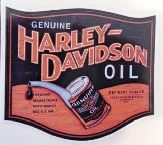 vintage harley davidson motor oil sticker 3 inch time left