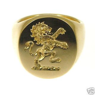 new 18ct 750 19 3g gold family crest signet ring