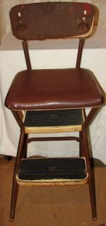 vintage cosco stylaire step stool chair  135