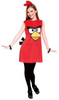 Red Bird CHILD GIRLS Costume Size L Large 10 12 NEW Angry Birds