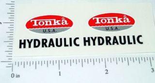 tonka turbine hydraulic dump truck sticker set tk 196 time
