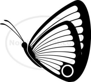 Tribal Butterfly Car Decal Window Sticker Wall Art #183