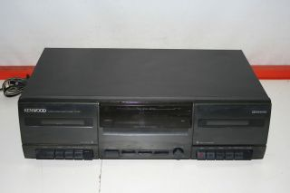 Kenwood Model CT 201 Stereo Dual Cassette Deck Player Recorder Tested