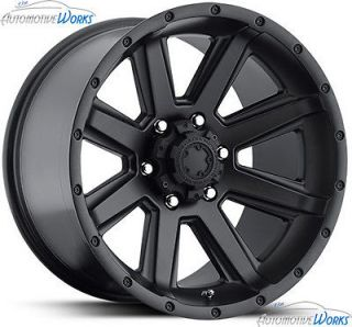 18x8.5 Ultra 195 Crusher 5x127 5x5 +10mm Gloss Black Wheels Rims Inch