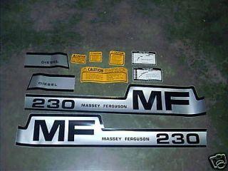 massey ferguson tractor 230 hood decal kit