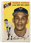 1954 TOPPS RUBEN GOMEZ CARD 220 NEW YORK GIANTS PITCHER