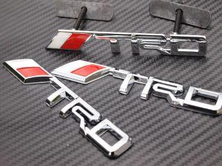 set TRD logo Chrome Metal 3D Grill badge grille emblem Toyota Camry