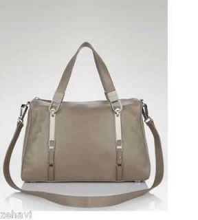 Michael Kors Aerin Handbag Shoulder Satchel Elephant Erin Leather Gray