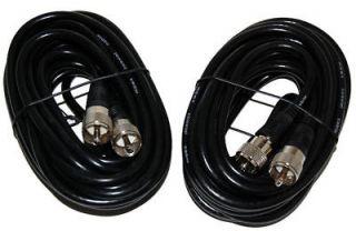 Lot 20Ft. RG 8X Mini 8 Coax PL 259 Male to Male Ham Radio Antenna