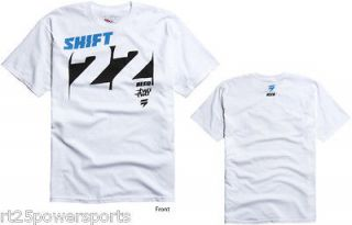 Shift Racing Chad Reed Knockout Tee White Adult 2XL Team Two Two