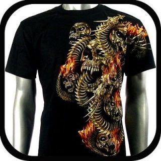RC Survivor T Shirt Biker Skull Tattoo Rock WB3 Sz M Heavy Metal Indie