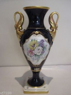 alka kunst cobalt blue 22 ct gold vase from australia