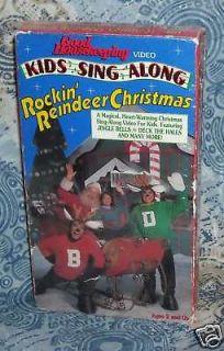 Sing Along Songs Rockin Reindeer Christmas VHS Good Housekeeping