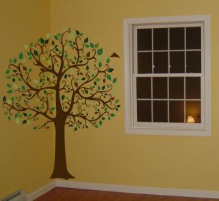 ft big tree brown green wall decal sticker mural