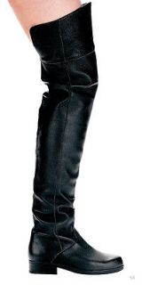 Ellie Shoes E 125 Tyler, Mens 1 Heel Pig Leather Thigh High Boots.