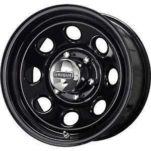 New 16X8 5x135 Unique 297 Black Wheels/Rims 5 Lug Ford F150