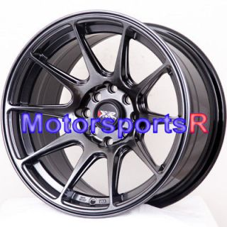 16 16x8.25 XXR 527 Chromium Black Concave Wheels Rims 82 83 84 87 91