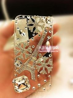 Newly listed handmade Luxury bling diamond snowflakes tower case cover