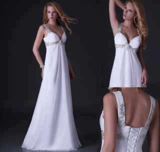 Sexy Women Shinning Strap Wedding Party Gown Prom Ball Evening Dress