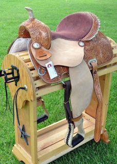Newly listed 14.5 Four Seasons Western Barrel Racer Horse Saddle