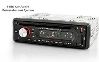 Car 1 DIN AUX Head Unit   DVD, AUDIO CD, USB, iPOD +iPHONE AUX PLAYER