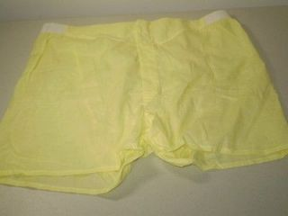 NOS vintage 60s men Boxer shorts underwear cotton Yellow Scovill snaps