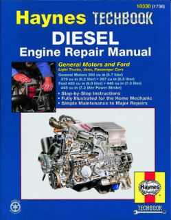 GM 5.7   6.2 Ford 6.9   7.3 Diesel Engine Repair Manual 10330 NEW