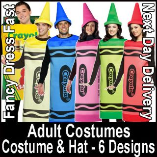 Crayola Fancy Dress Costume Box of Crayons Book Week Hat Gents Male