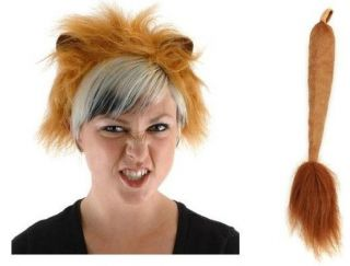 lion ears tail adult child costume kit accessory new one