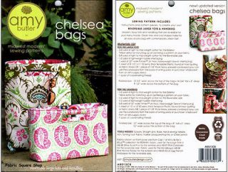 amy butler chelsea bags quilting sewing fabric pattern time left
