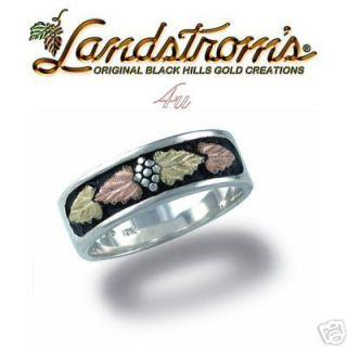 black hills ss gold unisex wedding ring size 11 5